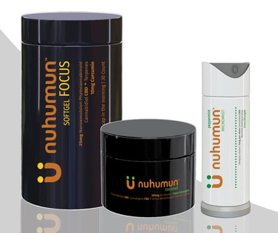 nuhumun Softgel, FOCUS; nuhumun Topical Salve, coconut; nuhumun Micromist, peppermint