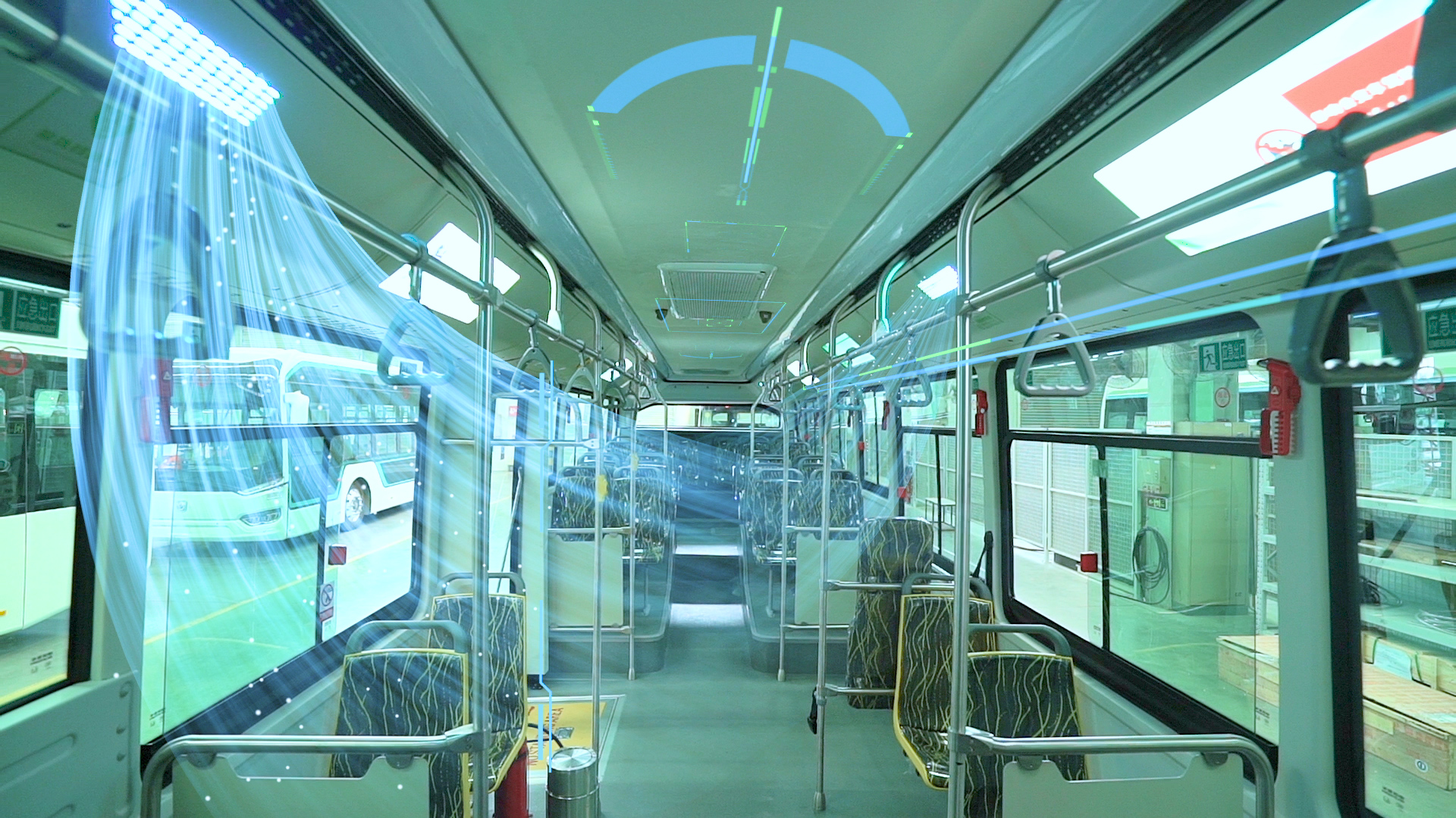 Ultraviolet light can be delivered out to the whole area of drivers and passengers, effectively achieving a complete sterilization and purification of the environment inside SUNWIN bus.